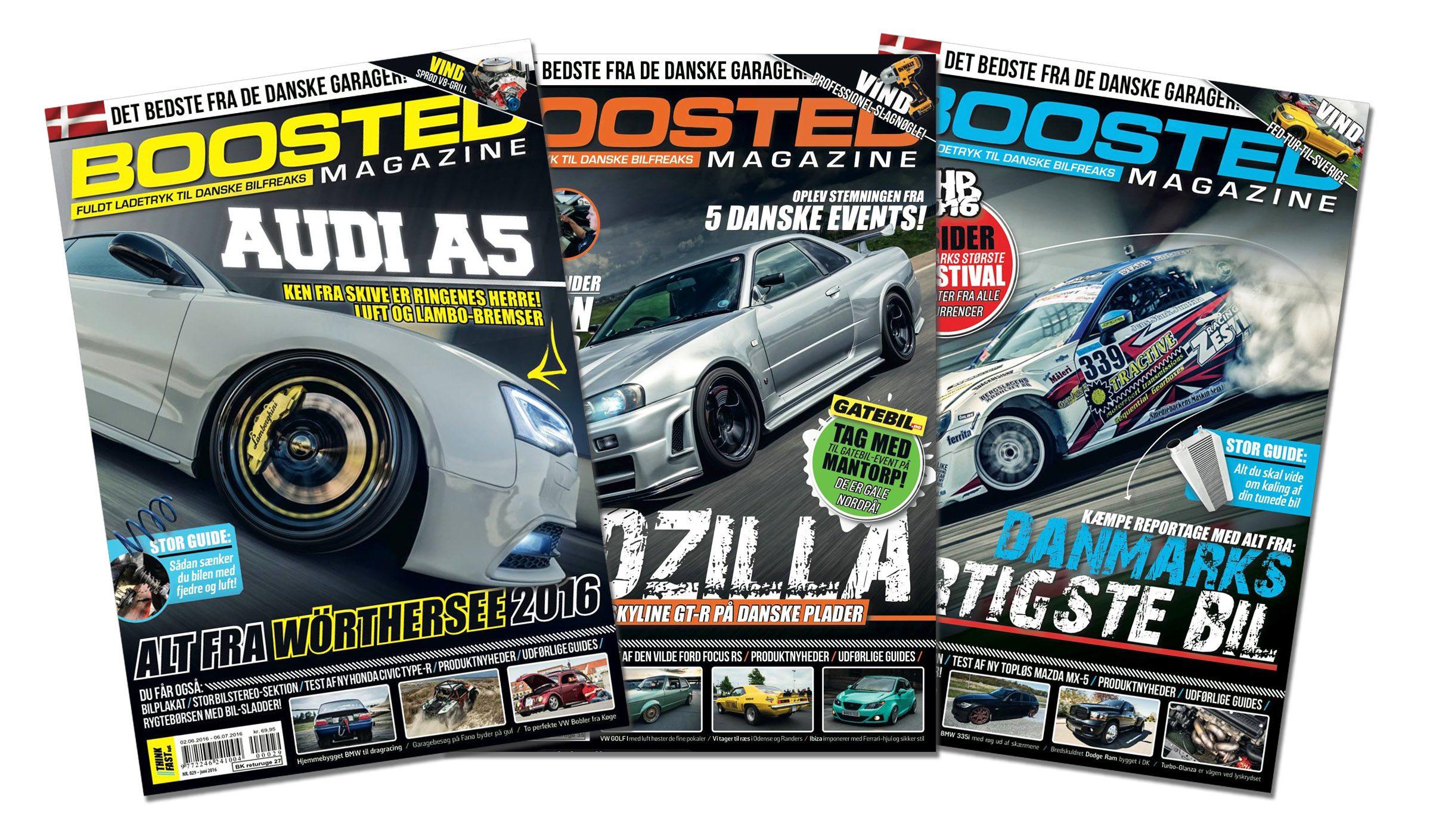 Oplev masser af biler fra Boosted Magazine.